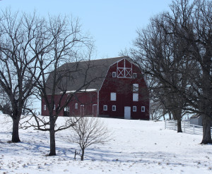 Restored Barn on LH near 330 by Carl Kurtz